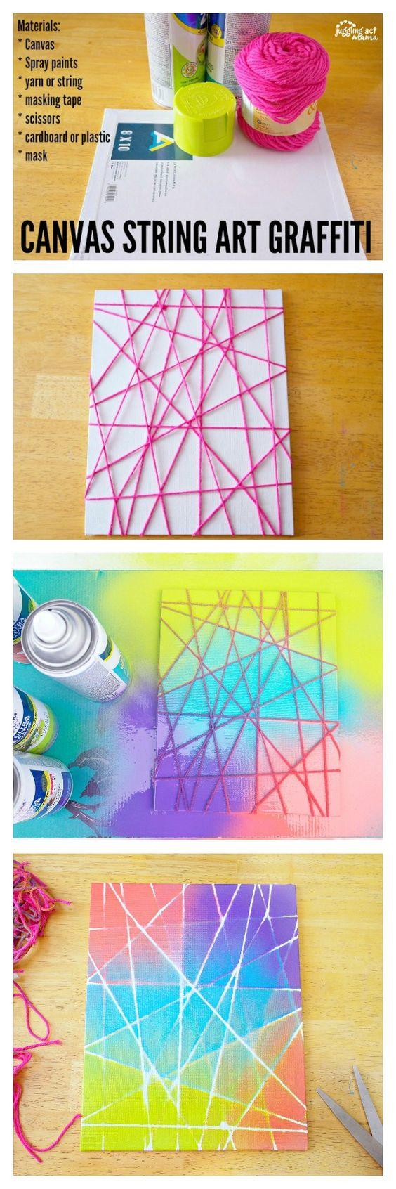 Canvas String Art Graffiti.