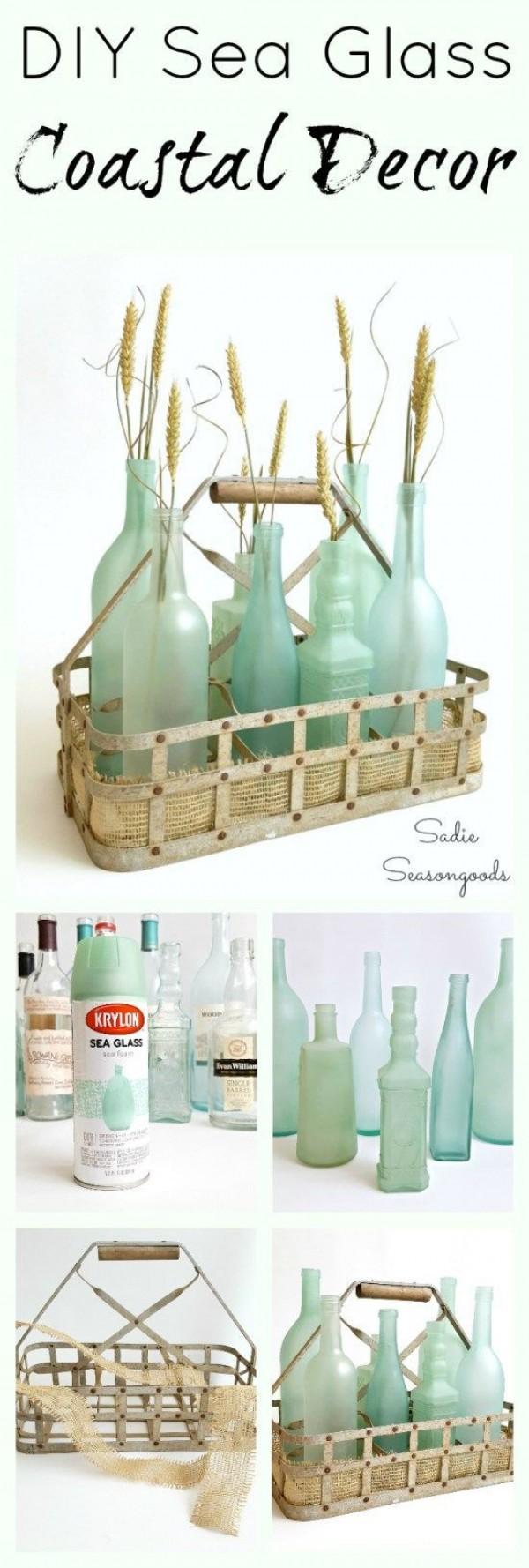Sea Glass Bottles.