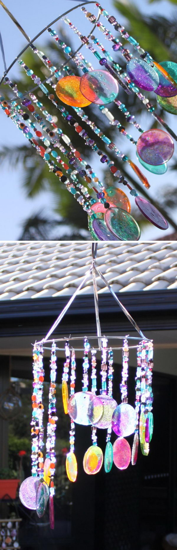 DIY Sun Catcher and Wind Chimes .