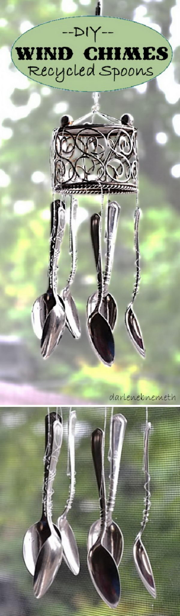 Recycled Spoons Wind Chimes.