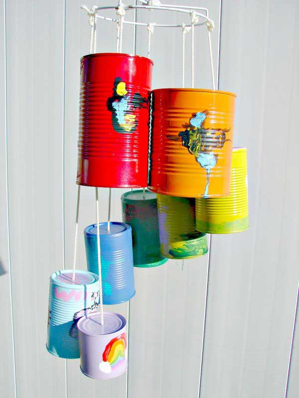 Recycled Tin Can Wind Chimes.