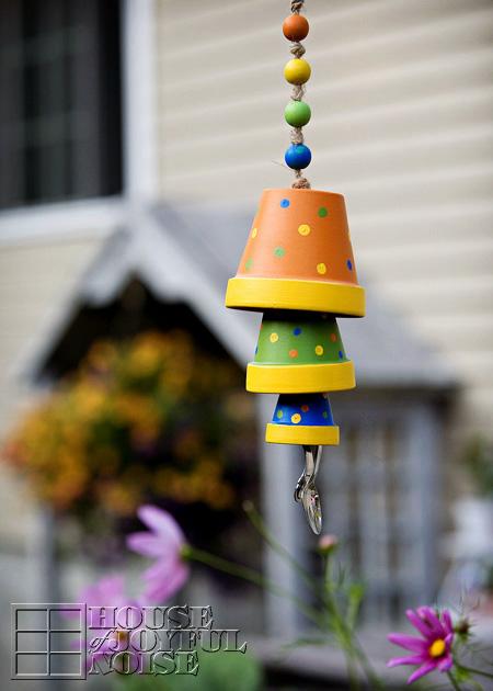 DIY Terracotta Flower Pot Wind Chime.