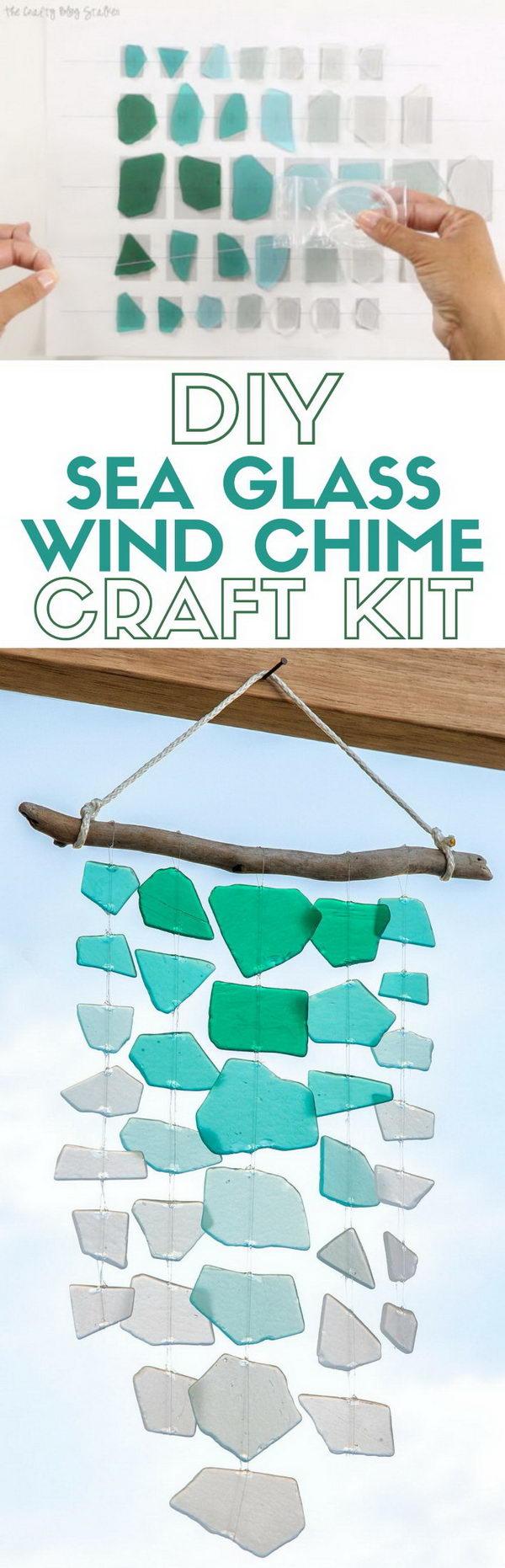 DIY Sea Glass Wind Chime.