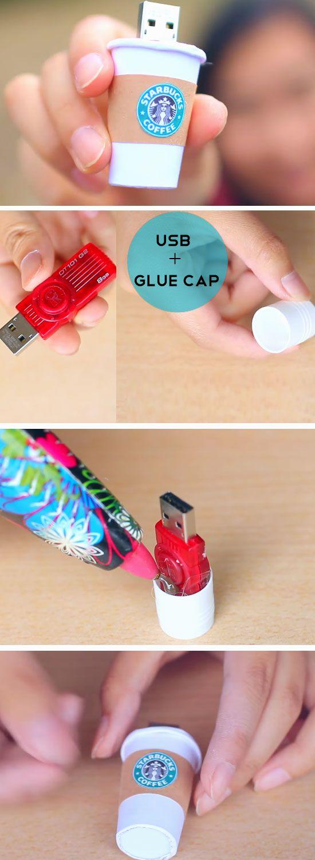 DIY Starbucks USB Stick.