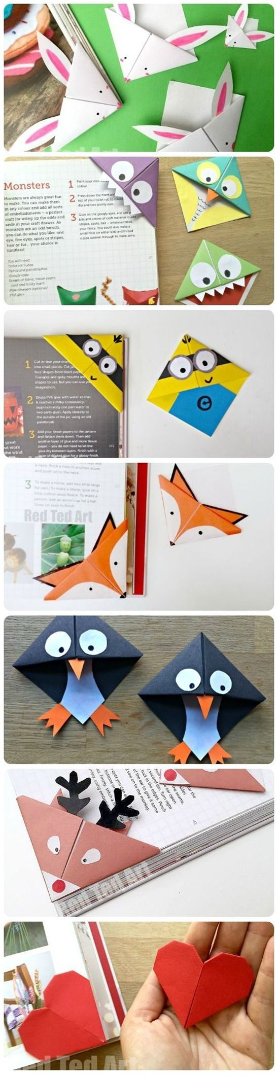 Cute Corner Bookmarks.
