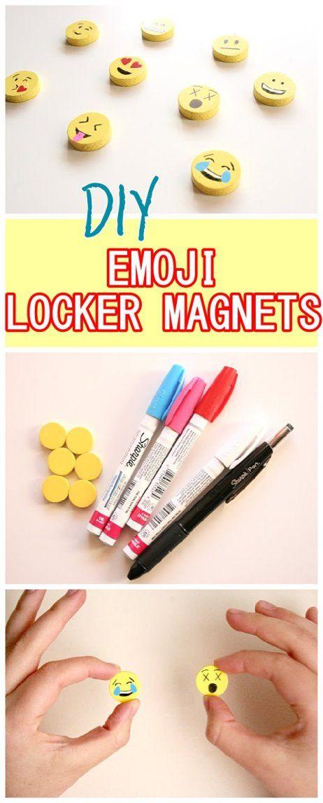 DIY Emoji Locker Magnets.