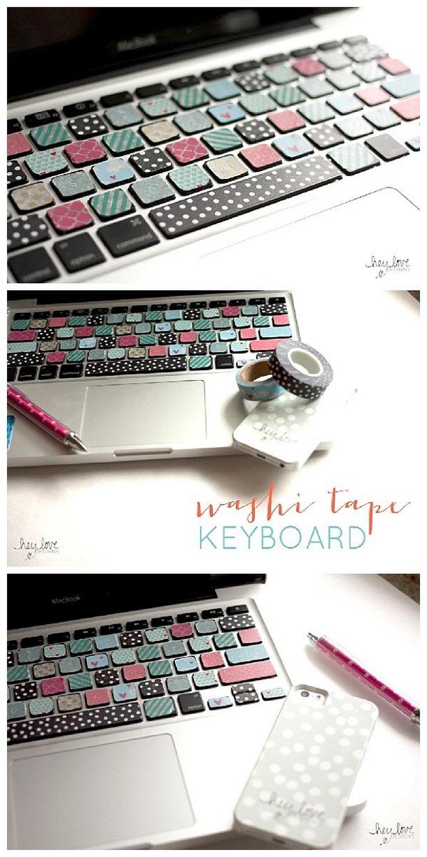 Washi Decorated Keyboard.