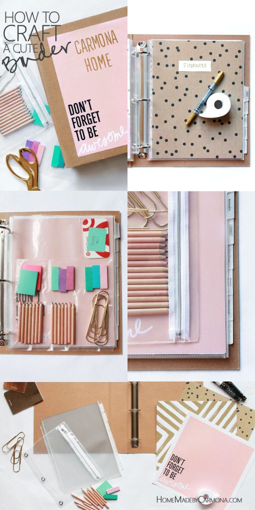 DIY Cute Binder.