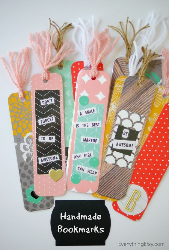 Cute Handmade Bookmarks That Are A Great Way To Make Reading More Fun.