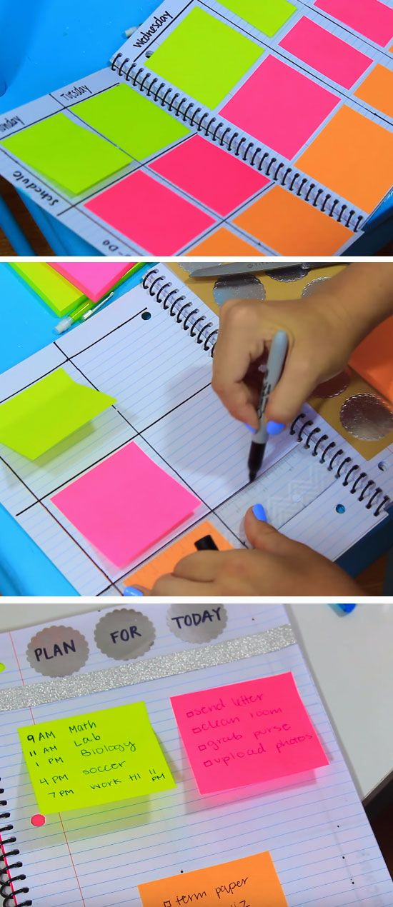Colorful Planner.