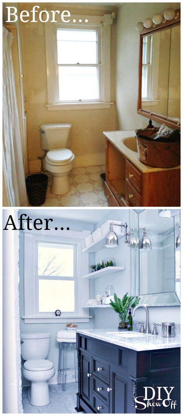 Classic and Timeless Bathroom Makeover with a Contemporary Twist .