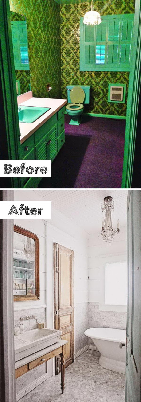 French Inspired Bathroom Remodel.