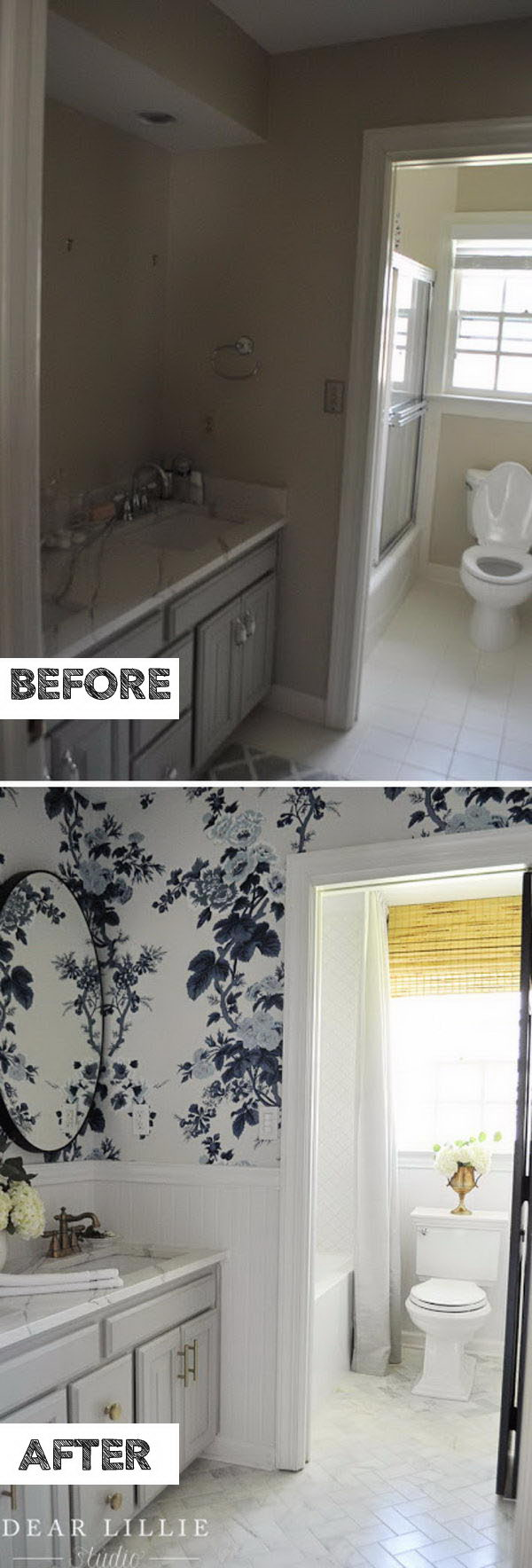 Go For A Fresh, Bright Update Using Wallpaper And Beadboard.
