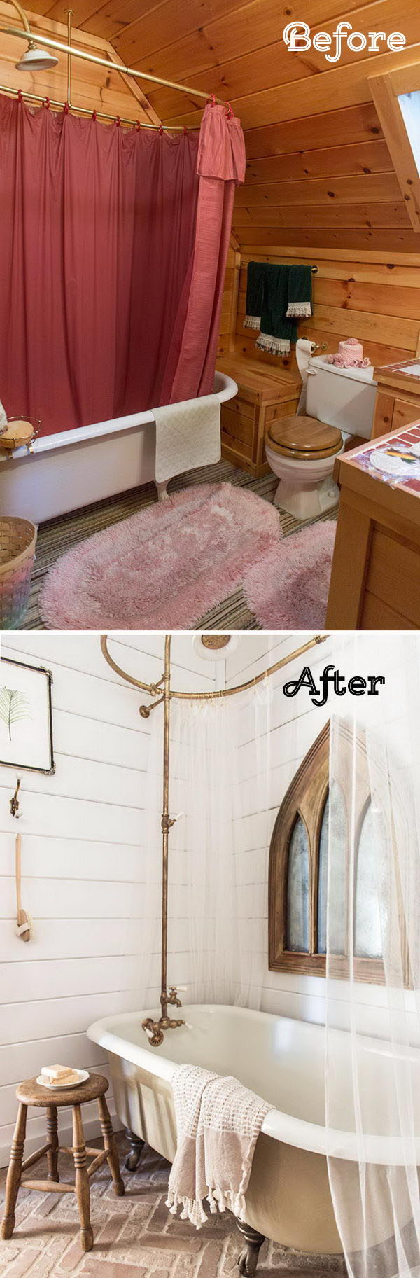 A Cozy Bathroom Gets A Farmhouse Facelift Featuring All Our Favorite Things .