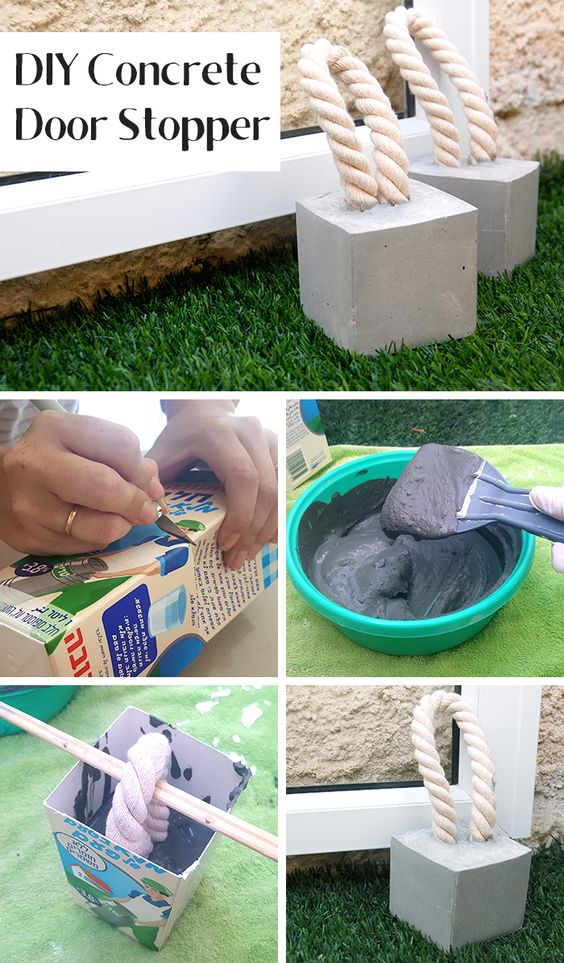 DIY Concrete Door Stopper.