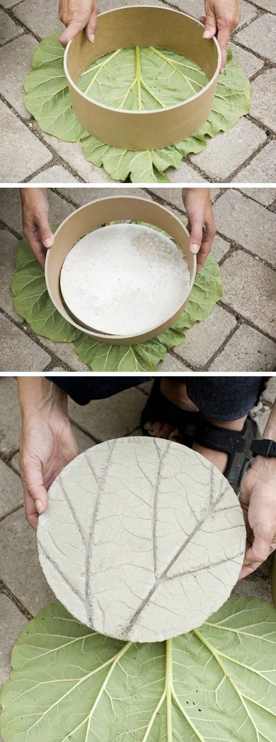 DIY Leaf Garden Stepping Stone.