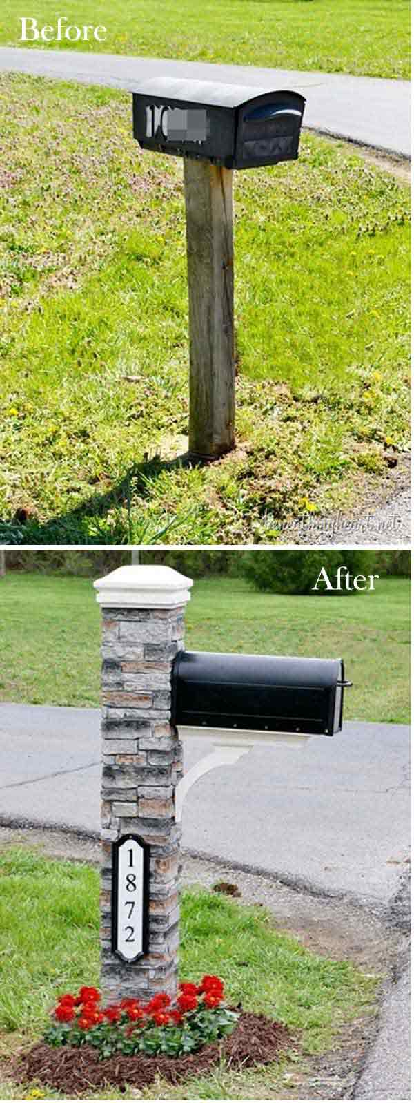 Give a Great First Impression with This DIY Brick Mailbox.