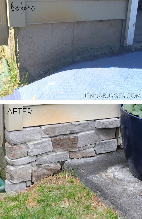 Cover a Concrete Foundation Wall with Stone Veneer.