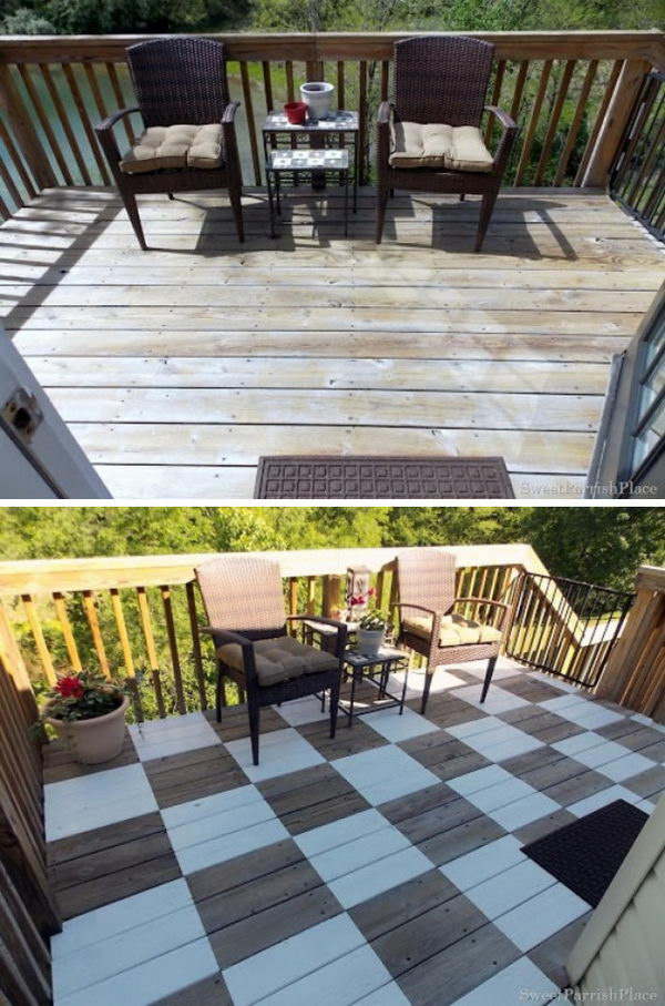 Add Interest by Painting Your Deck.
