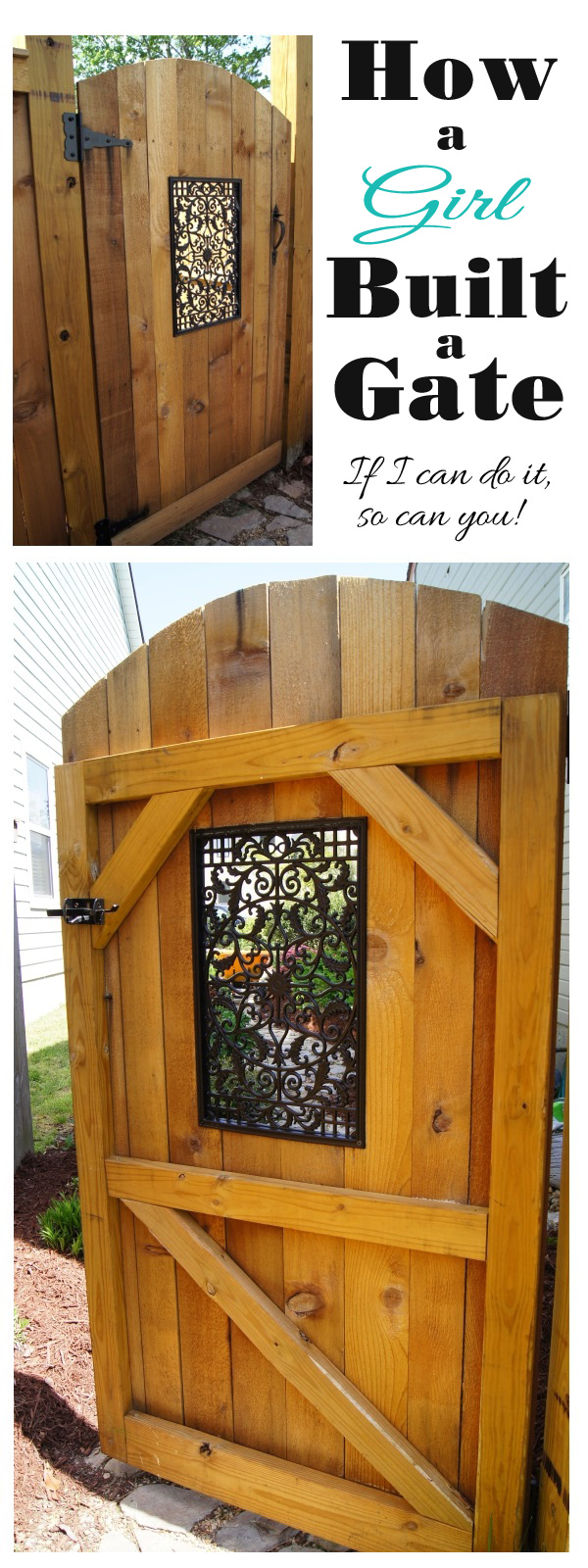 Build a Side Gate with a Decorative Window.
