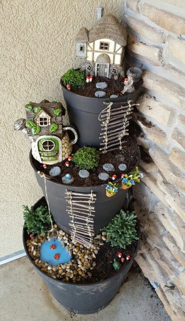 Potted Fairy Garden.