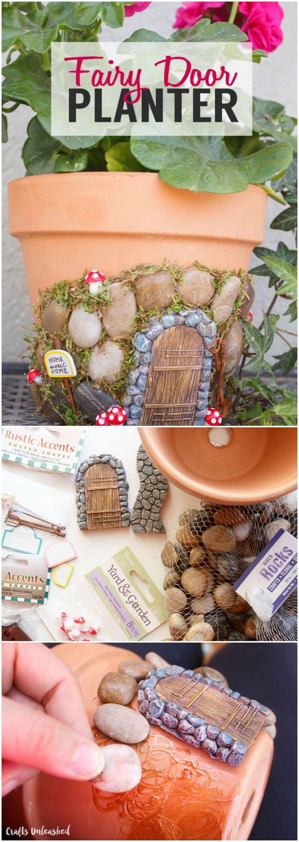DIY Terracotta Fairy House Planter.