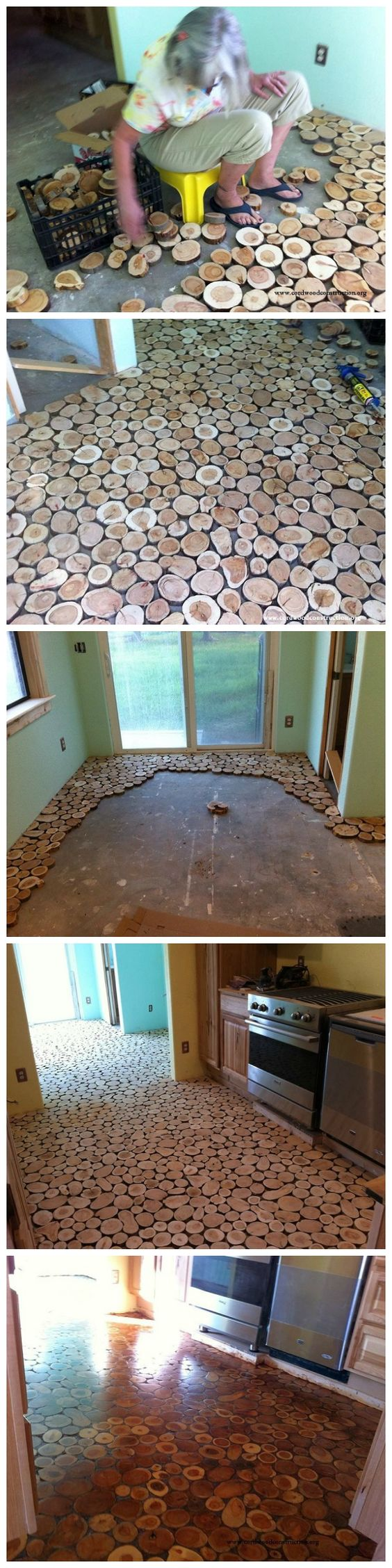 Cordwood Flooring.