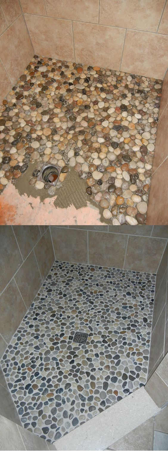 Pebble Shower Floor.