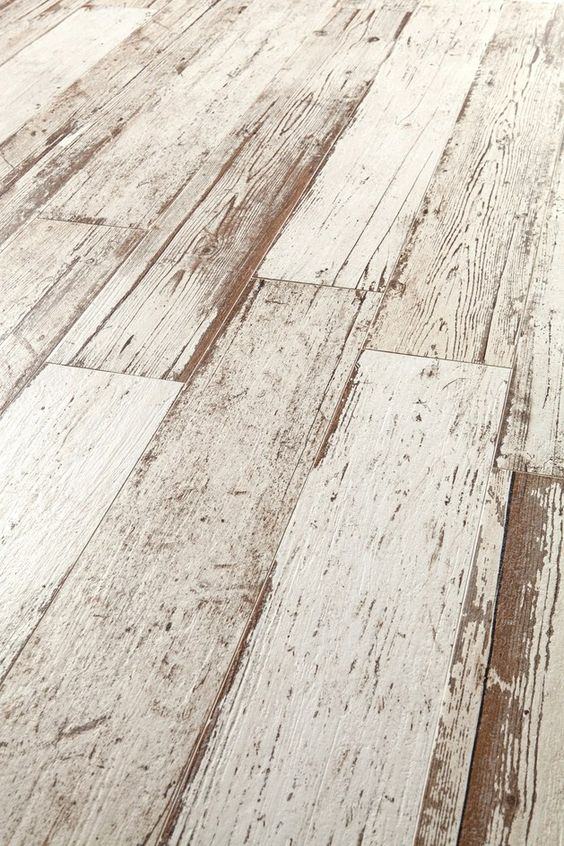 Amazing Distressed Wood Looking Tile.