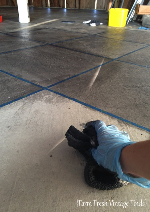 From Plain Concrete to Stained Concrete Floor Makeover.