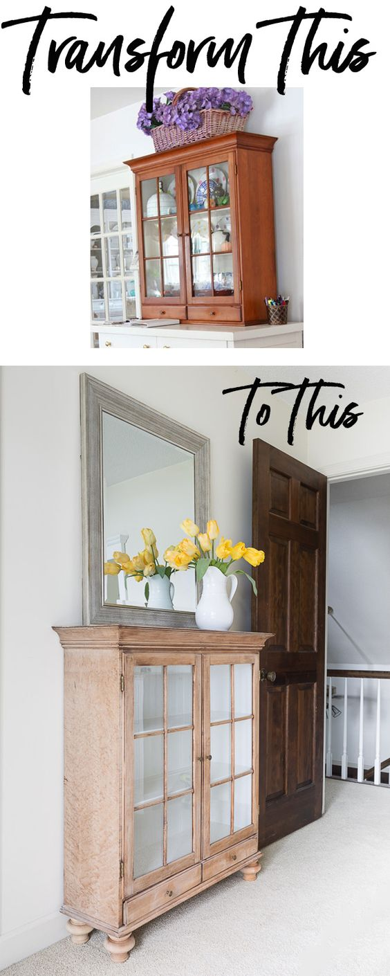 Transform a Cabinet into a Decorative Piece of Furniture by Adding Legs.