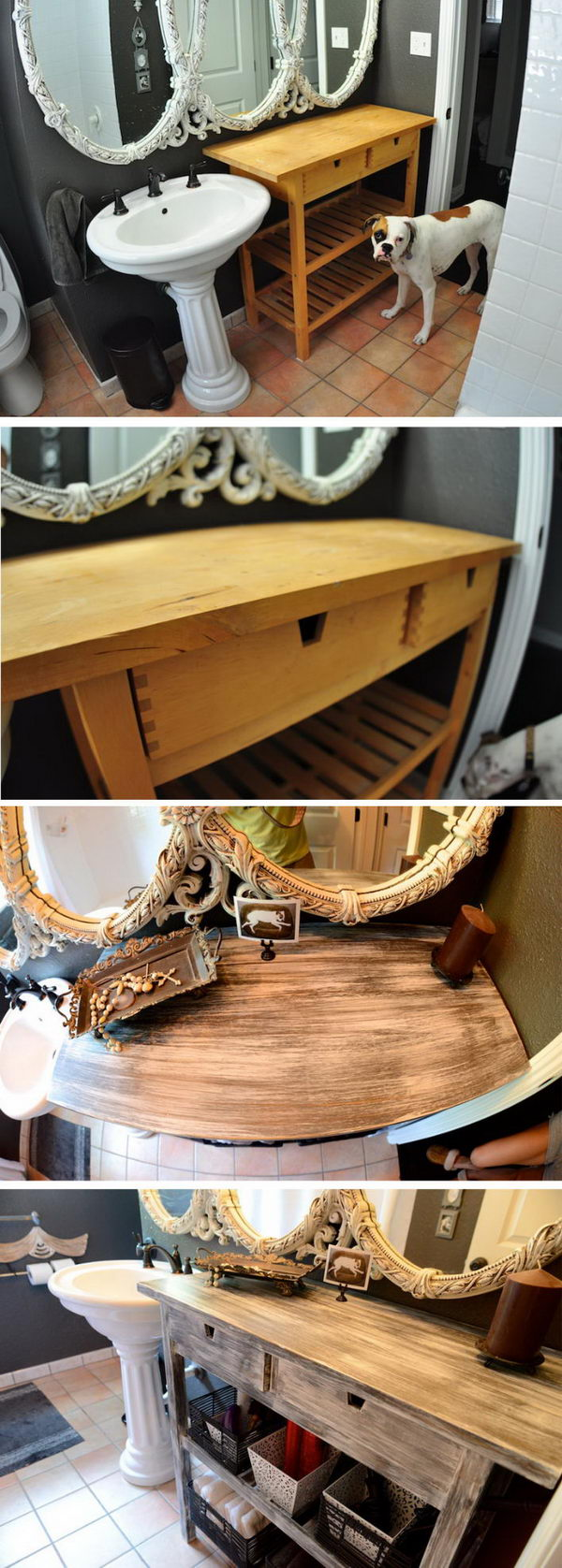 Recycle Old Ikea Furniture into Custom Shabby Chic Pieces.