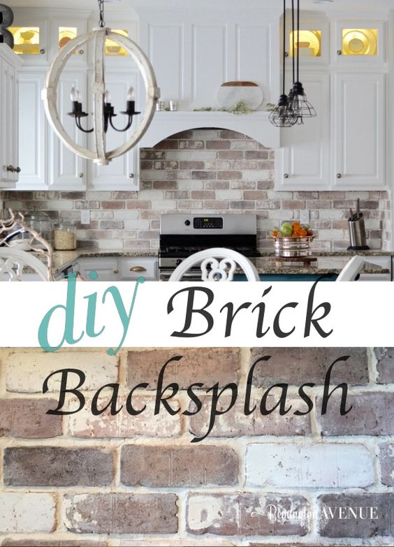 DIY Brick Veneer Backsplash.