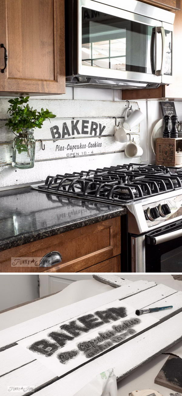 25+ Frugal and Creative Kitchen Backsplash DIY Projects 2017