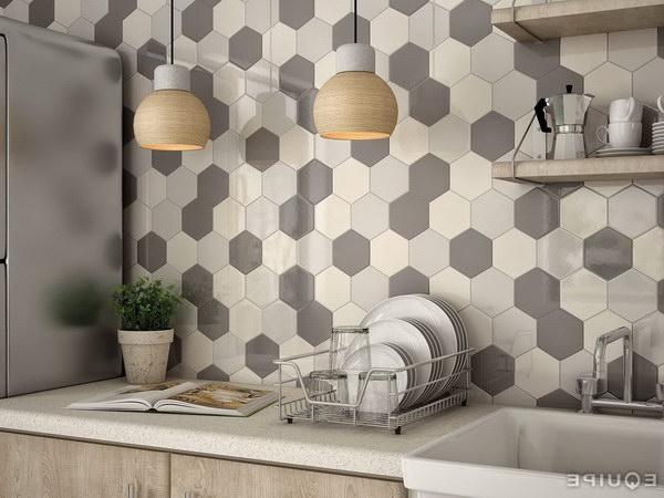 Modern Multi Color Hexagon Tile Backsplash