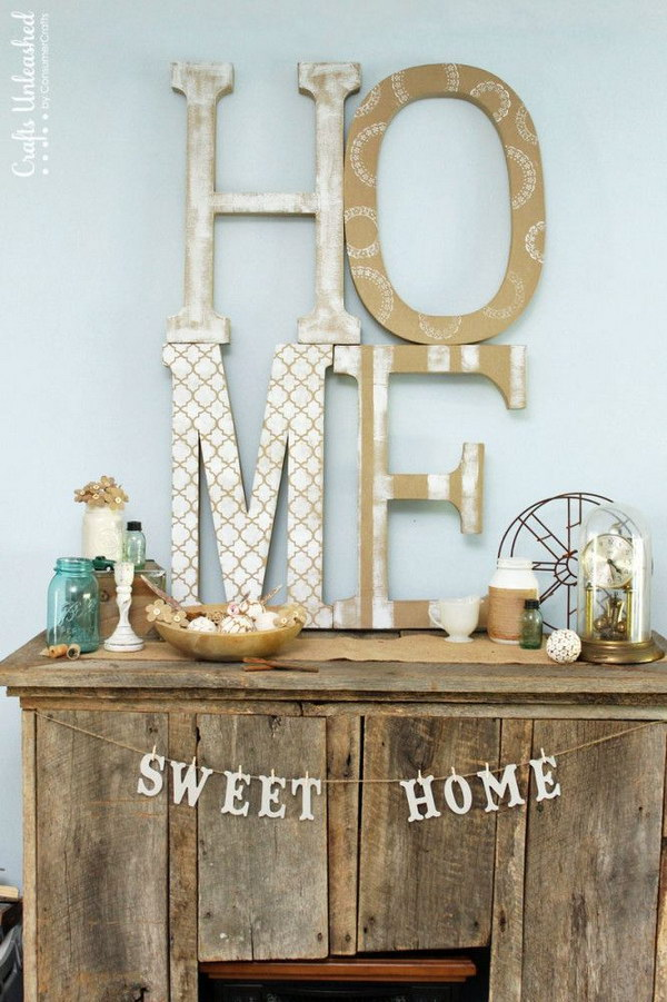 Cute Diy Home Decor Ideas: 45 Awesome DIY Ideas For Making Your Own Decorative Letters