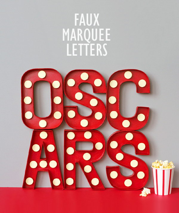 DIY Faux Marquee Letters