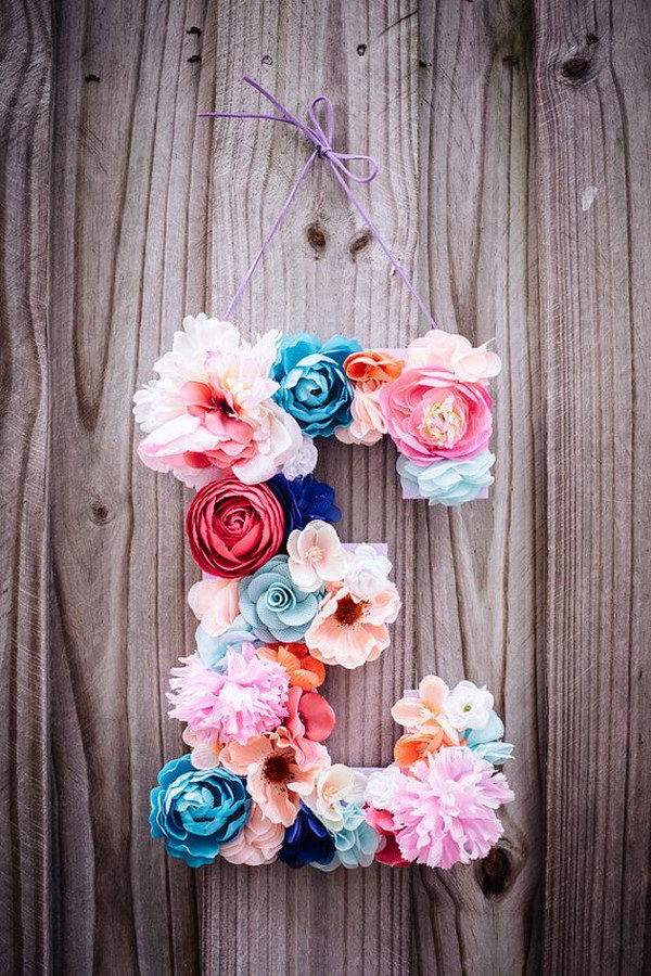 Beautiful  Floral Letter