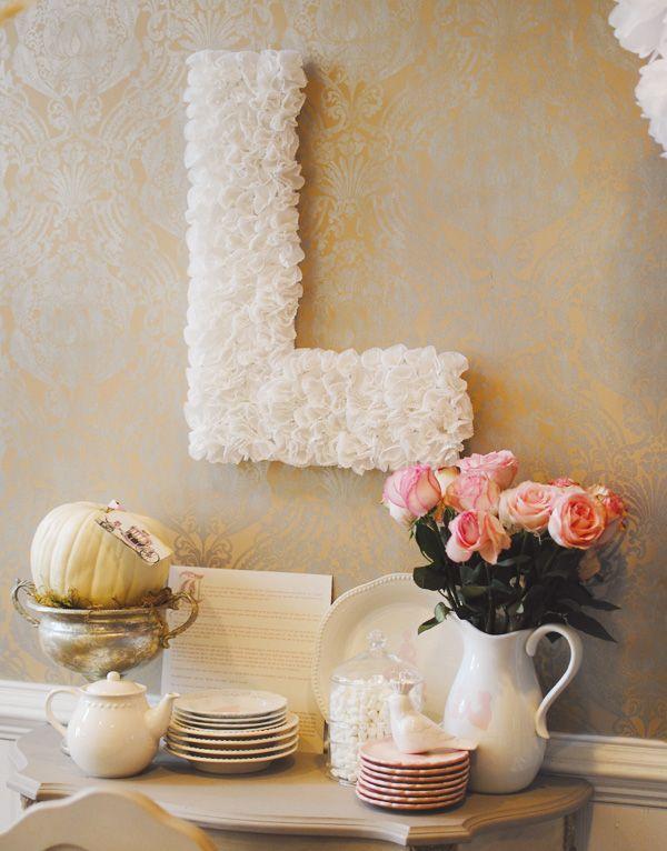DIY Cupcake Liners letter