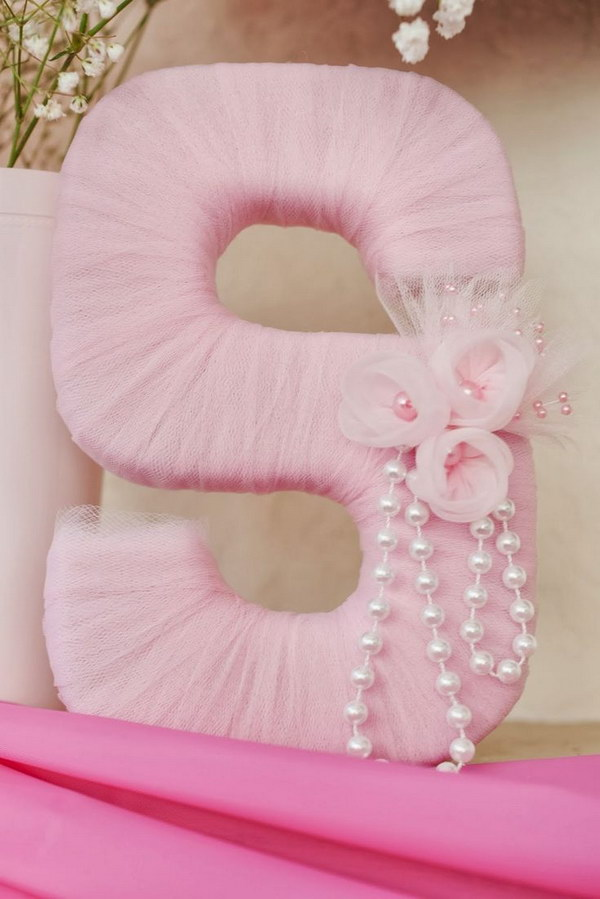Tulle Wrapped Letter