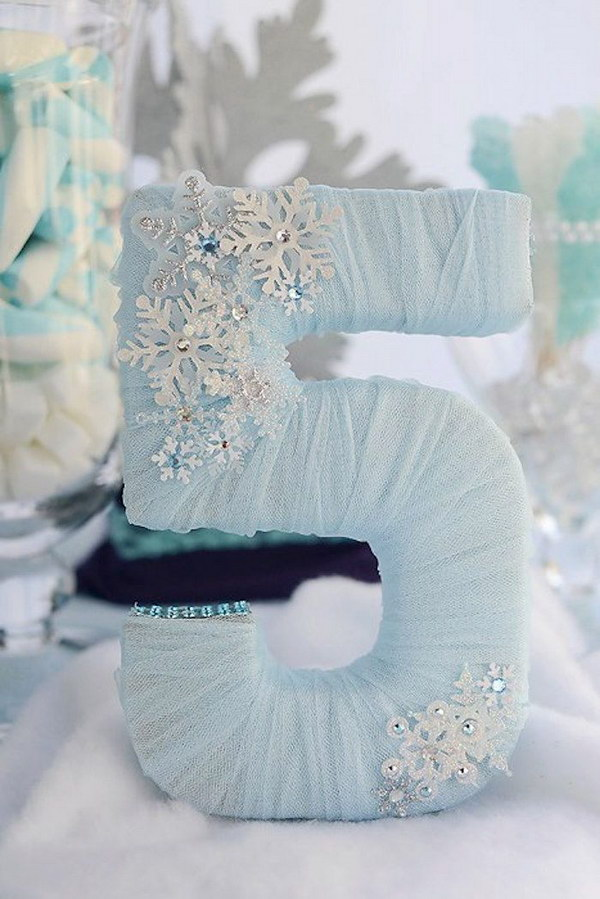 DIY Tulle Wrapped Letter