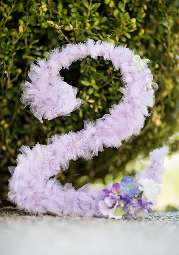 Tutu Fabric Decorated Letter