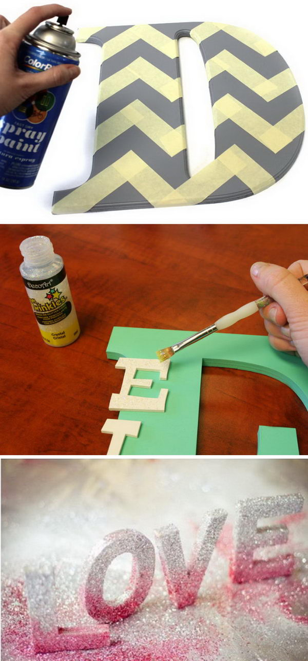 Awesome DIY Ideas for Making Your Own Decorative Letters.