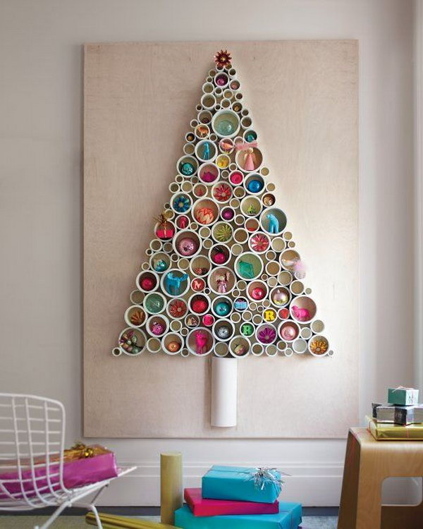 PVC Pipe Tree as Wall Art.