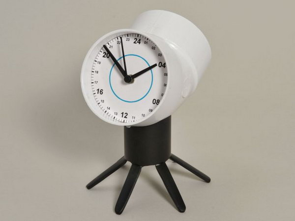 PVC Two-Faced Clock. See the tutorial