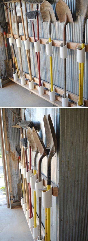 PVC Pipe Tool Storage.
