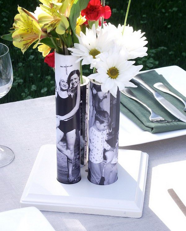 DIY PVC Pipe Vase for Mother's Day.