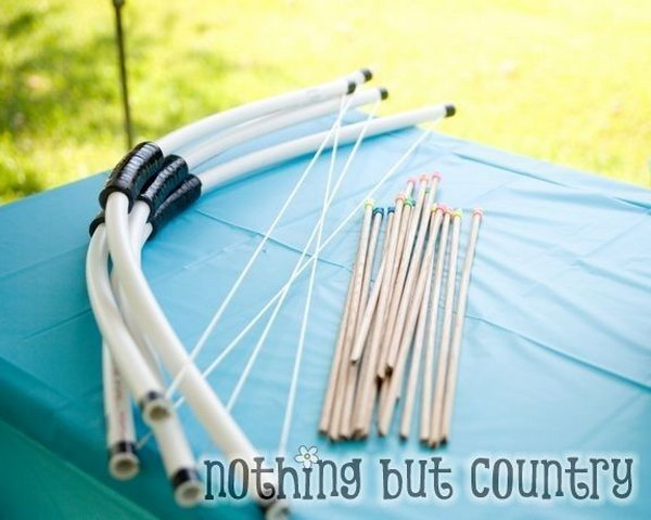 PVC Pipe Bow and Arrow for Your Kids.