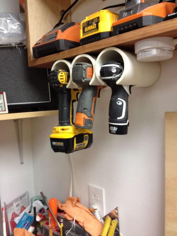 PVC Drill Holder.