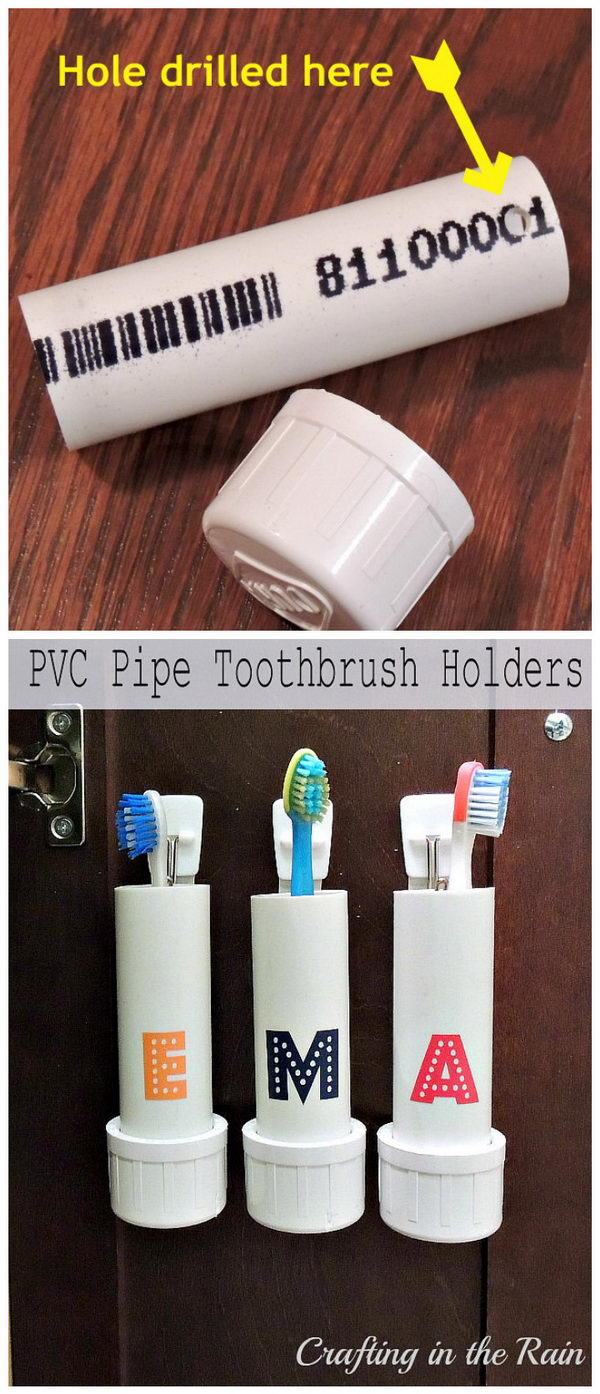 PVC Pipe Tooth Brush Holder.